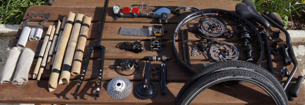 Un vélo complet en pièces détachées