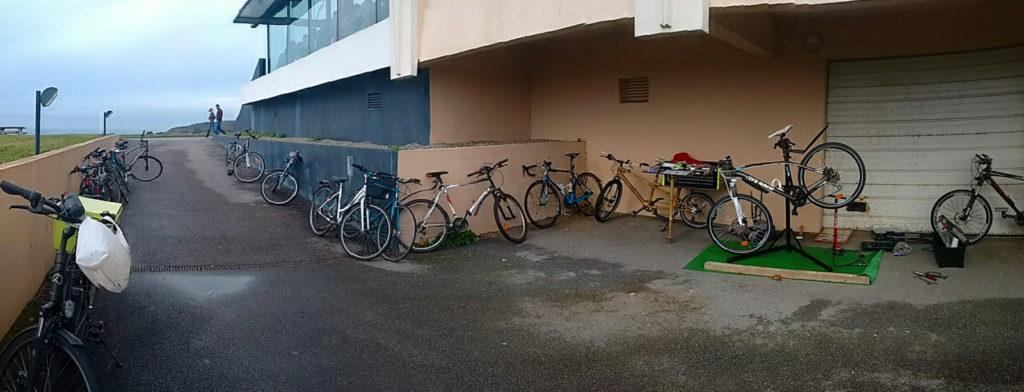 Réparation de vélos à l'Ifremer